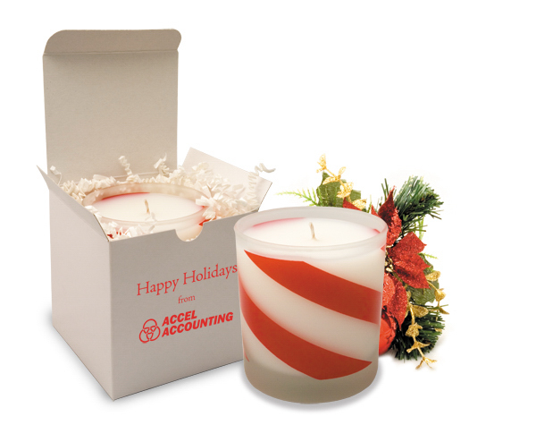 11oz. Candy Cane Twist Holiday Candle