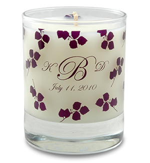 Wedding Soy Candle In 3oz Clear Votive