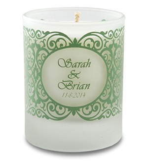 Wedding Soy Candle In Frosted Votive