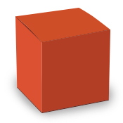 Orange Tuck Top Box